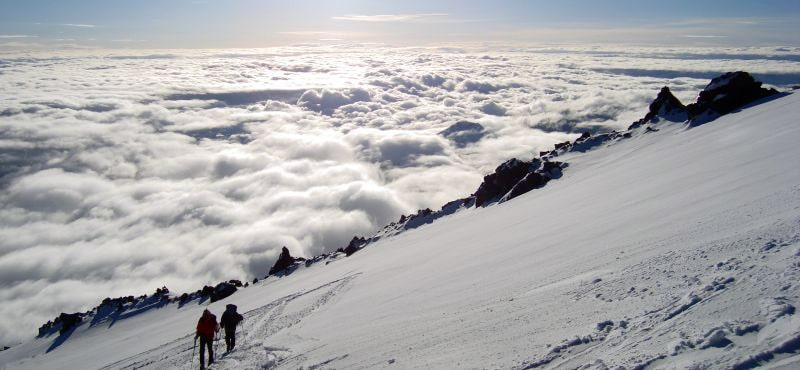 route Climbing mt.Elbrus E-W (cross) from the North